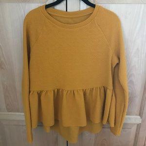 Mustard peplum blouse